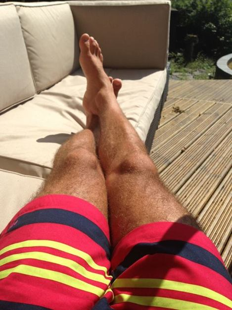 TOM DALEY'S LEGS