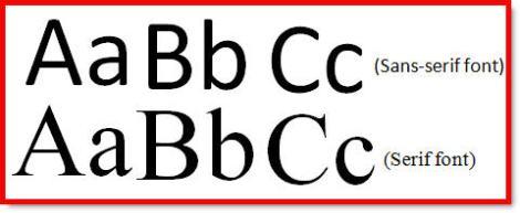 Serif-and-Sans-Serif
