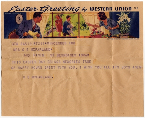 Easter Telegram