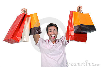 man-holding-up-shopping-bags-21257150