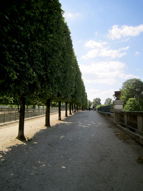 Gorgeous walking-relaxing area along the Jardin des Tuileries.