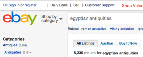 EBay-Egyptian