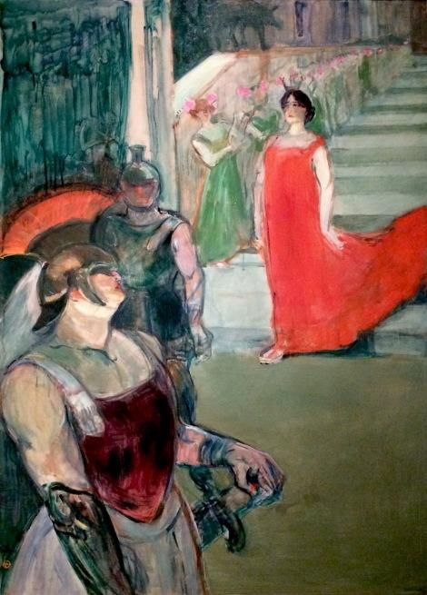 """""""The Opera Messalina at Bordeaux"""" by Henri de Toulouse-Lautrec"""