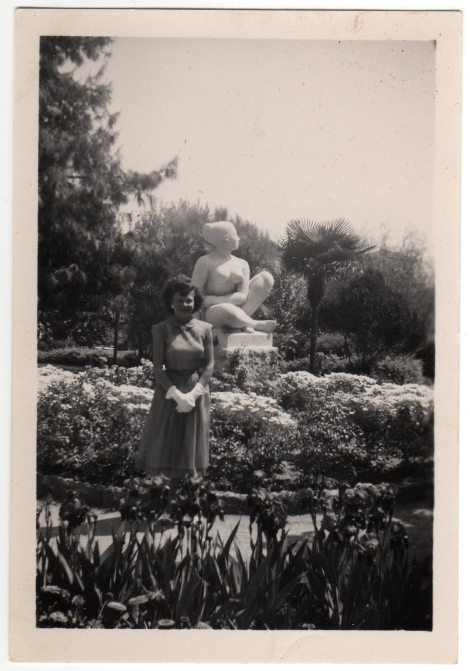 Betty In Exotic Garden